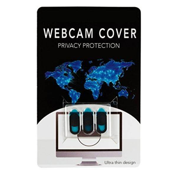 Webcam Privacy Cover by TechPrivacy (3 pack) - Ultra Slim Webcam Cover Slide, Suitable for iPad, Laptops, Macbook, Macbook Pro, iMac, Mac, Dell, Lenovo, HP and More, Protects your Privacy - intl