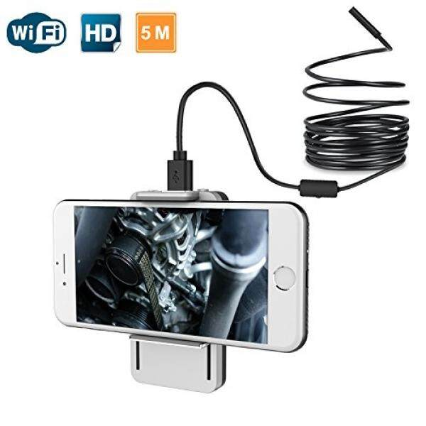 Wi-fi Kamera Borescope, Scopearound Nirkabel USB Endoskopi Kamera Inspeksi 8.5 Mm Diameter Tahan Air dengan Ponsel Pegangan Klip untuk Android iPhone macbook IOS & Windows Mac Komputer Putih 5 M-Intl
