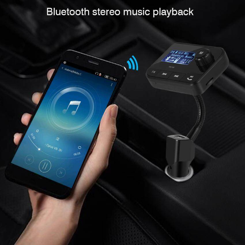 Wireless Bluetooth FM Transmitter USB Car Charger Audio Adapters Hands-free w/ Aux TF Card Slot