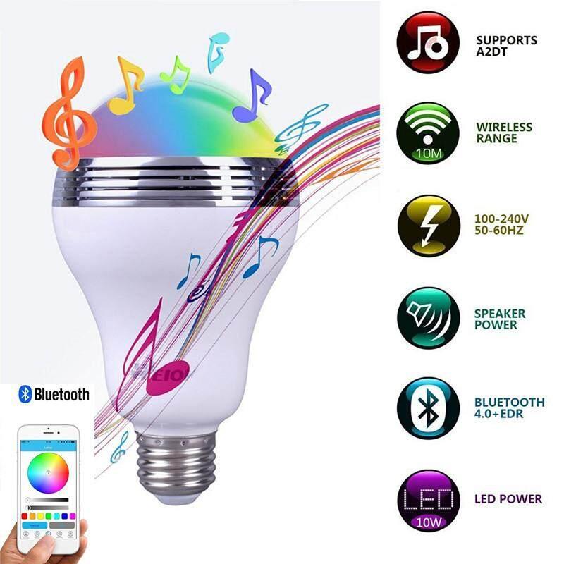 Hình ảnh Wireless Bluetooth Speaker Light Intelligent LED Lamp Bluetooth Speaker 4.0 E27 Colorful Music Playing & Lighting Remote Control APP - intl