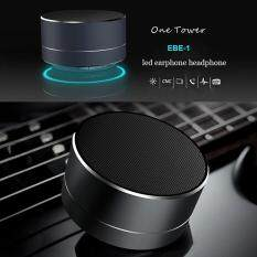 Wireless Bluetooth Speakers LED Metal Steel Mini Portable Speaker Smart Hands Free Speaker FM Radio Bass boombox Support SD Card Malaysia