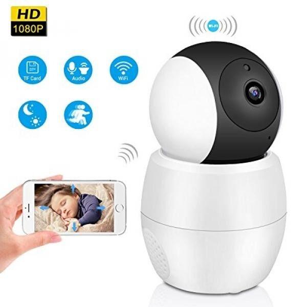 Nirkabel Kamera Keamanan Rumah, HD 1080 P Wifi Kamera Ip, panorama Lensa Sudut Lebar 355 Derajat 2mp Dua Cara Komunikasi Audio Modus Malam Gerakan Terdeteksi untuk Bayi Hewan Peliharaan Rumah monitor Kantor-Internasional