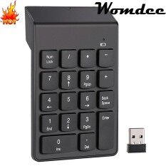 Womdee 18 Keys 2.4G Wireless USB Numeric Keypad Number Keypad Portable Numpad For Mac Laptop Notebook Desktop PC Computer With Chocolate Keyboard And Mini USB Receiver Malaysia