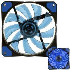 Womdee 3-Pin/4-Pin 120x120x25mm LED Quiet Edition High Airflow Low Noise High PressureFan Single Pack 30-RLED Mini Cooling Cooler Fan, Blue Malaysia