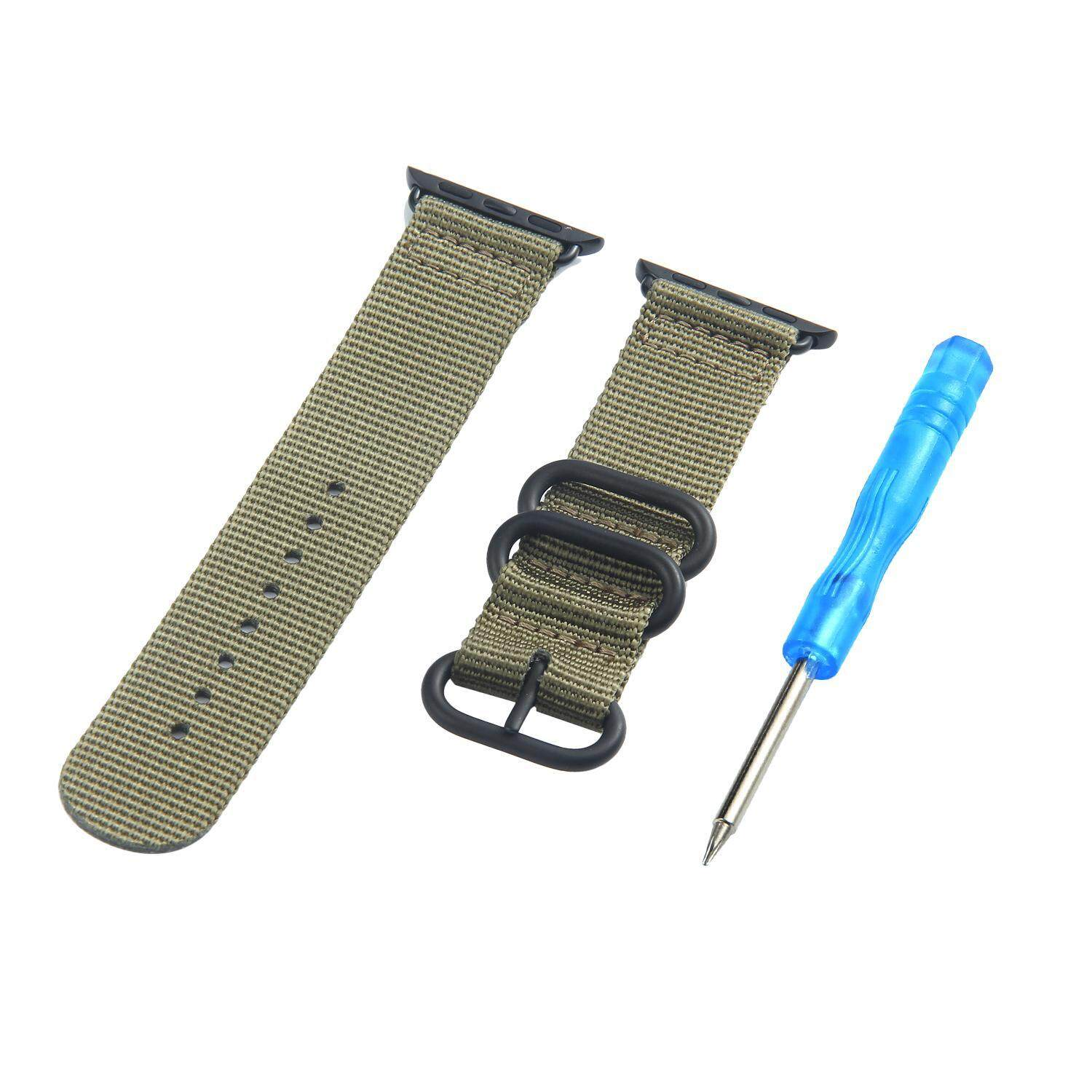 Sale Chang Iwatch Casual Soft Nylon Canvas Fabric Sport Edition Replacement Watch Band Straps For Apple Iwatch 42Mm With Metal Clasp And Connector 42Mm Intl China Cheap