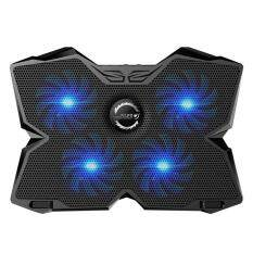 Womdee KOBWA Laptop Cooler Cooling Pad Stand Ultra-quiet Gaming Notebook Cooler For 15.6-17 Inch Laptops With 1200 RPM 4 Fans, Dual USB Port And Multi Tilt Angle Option.(Blue) Malaysia