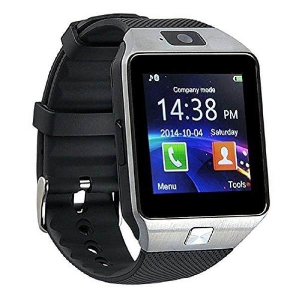 Wooboo DZ09 Bluetooth Pintar Jam Tangan Arloji dengan Kamera Anti Hilang Pelacak Aktivitas untuk iPhone 6 7 Plus, samsung, Huawei Ponsel Android-Perak-Internasional