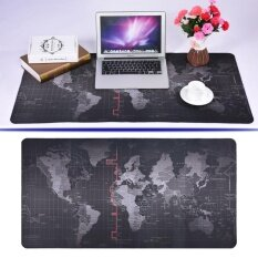 World Map Pattern Non-slip Mouse Pad Gaming Mat With Stitched Edge (400x800x2mm) (MY) Malaysia