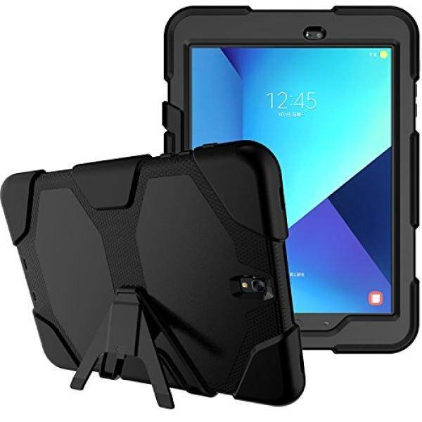 X-Tablet Samsung Galaxy Tab A 10.1 Case with Screen Protector, Kickstand Armor Rugged Sturdy Shockproof Heavy Duty Full Body Protective Cover for Galaxy Tab A 10.1 inch Wifi Tablet SM-T580NZKAXAR (Black) - intl
