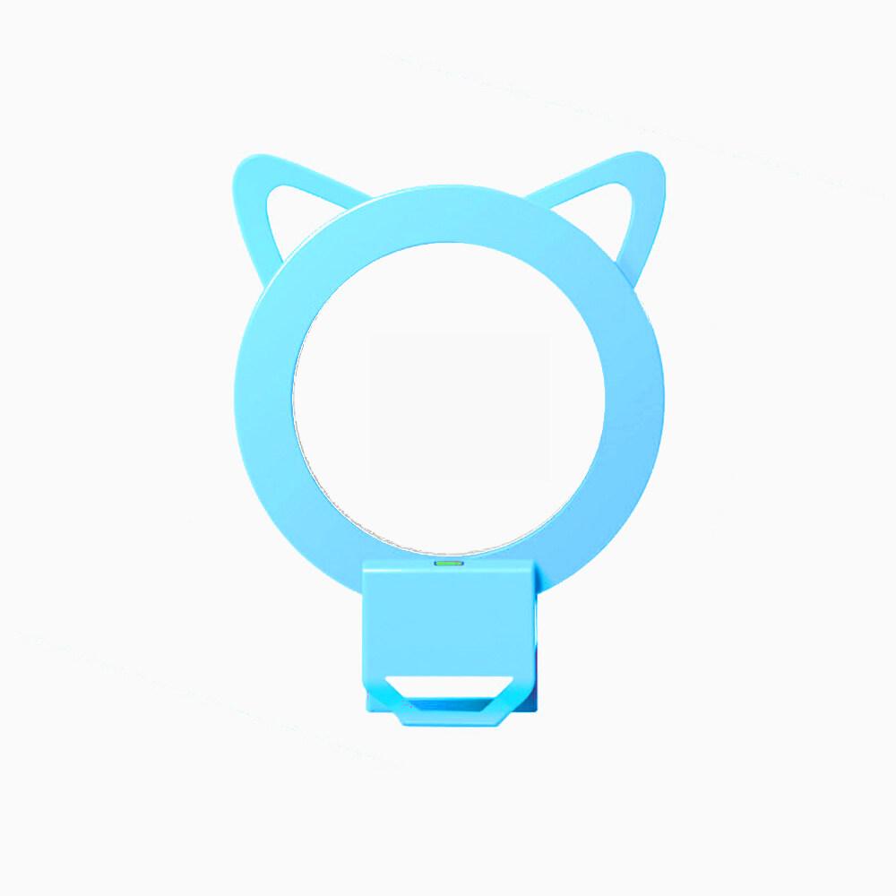 Hình ảnh XHLEIA Colorful Selfie LED Ring Light with 24pcs LED Lights Designed for iPhone Samsung and Other Smartphones (Blue) - intl