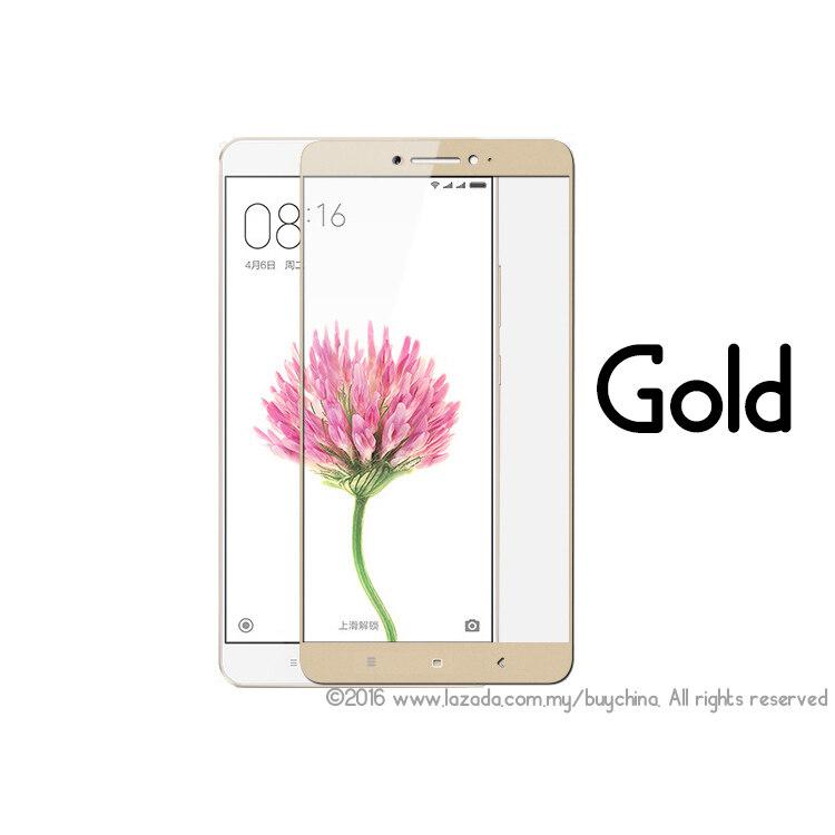 [Xiaomi Mi Max Perlindungan Menyeluruh Kaca Tempered] BC Xiaomi Mi Max Pelindung Layar, premium HD 0.26 Mm Angle Bulat Anti Sidik Jari Layar Pelindung Kaca untuk Xiaomi MI Max (Emas)