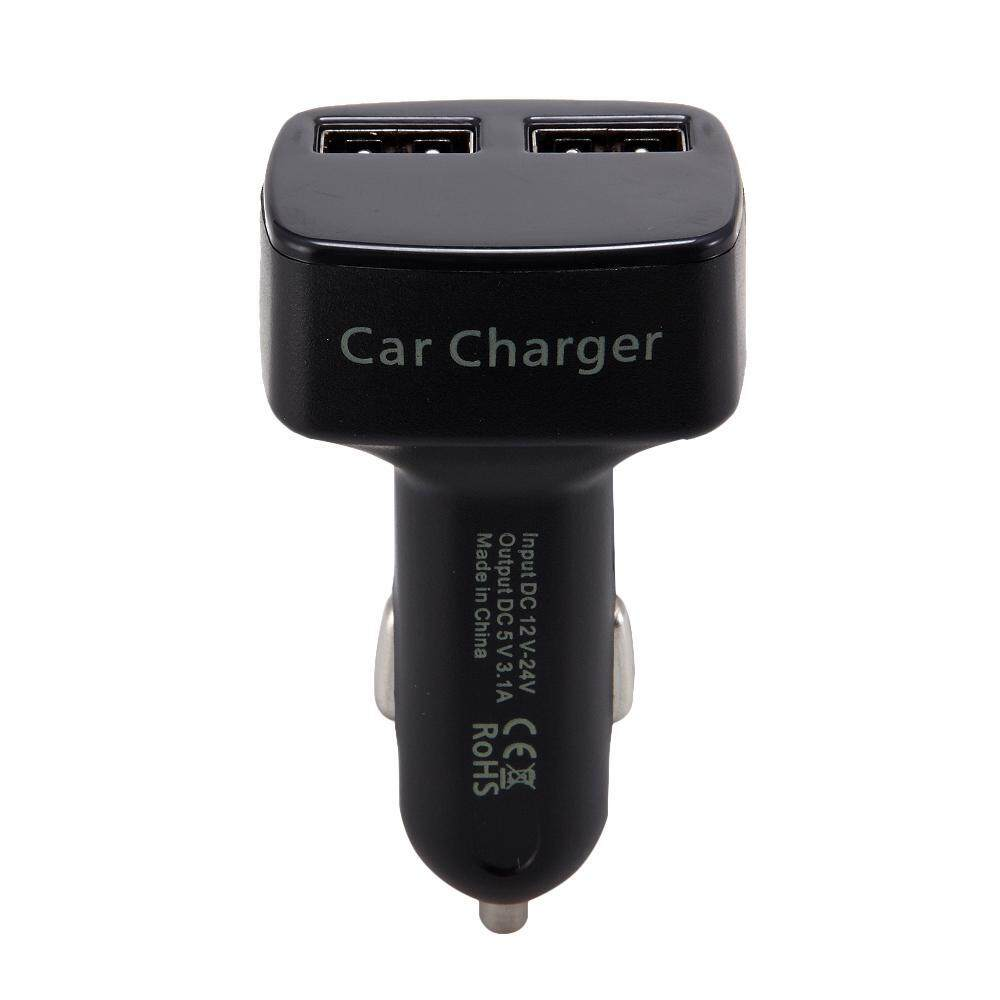 xudzhe 4 In 1 Dual USB Car Charger Adapter with LCD Screen Display Voltmeter Ammeter Thermometer for IPhone 7 6s Plus,Samsung Galaxy S8 S7 S6 Edge Note 7 5 ...