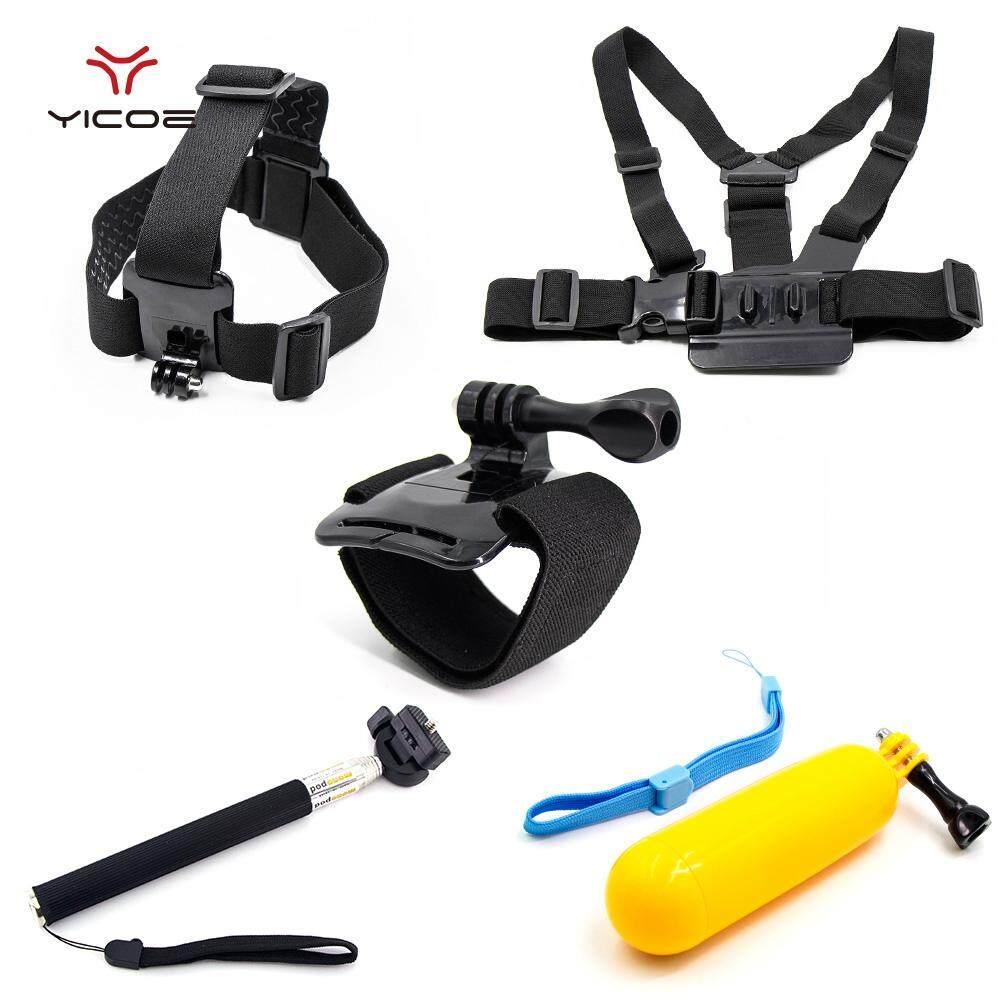 Set Aksesori Kit Penutup Lensa Tali Monopod untuk Go Pro Hero 6 5 4 3 + 3 2 1 SJ4000 SJ5000 Xiao Mi Yi H9 Mijia 4 K Aksi Kamera Olahraga-Intl
