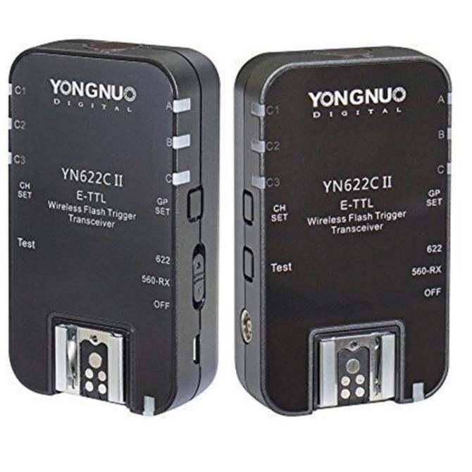 YongNuo New Wireless ETTL Flash Trigger YN622C II with High-speedSync HSS 1/8000s for Canon camera - intl
