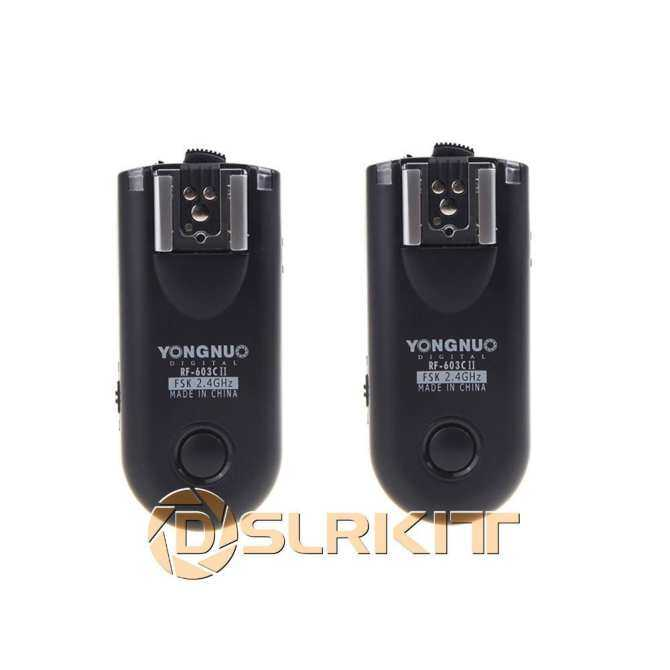 Yongnuo RF603 RF-603C II C1 Wireless Remote Flash Trigger Kit for Canon 60D 550D 1000D 6D 650D 550D 600D 60D 500D 5D Mark iii - intl