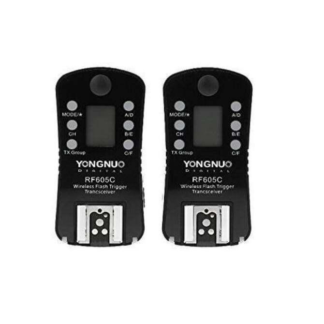 Yongnuo RF605C Nirkabel Pemicu Flash dan Pelepasan Rana untuk Canon DSLR 1D 7D 5D 10D 20D 30D 40D 50D Seri 60D 70D 400D 500D 600D 700D 1000D Seri-Internasional