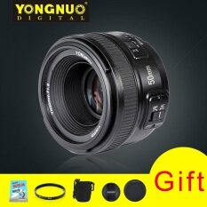 YongNuo YN50MM F1.8 Standard Prime Auto Focus Lens with 58mm UV Lens Filter Lens Pouch Gifts for Nikon Camera D850 D750 D7500 D5600 D3500