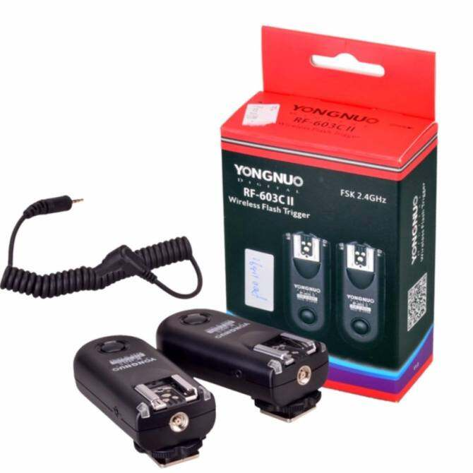 Yongnuo Wireless Trigger RF-603 II/N3 603 Mark ii Trigger (2pcswith Fujitsu Alklaine AAA Battery) - intl