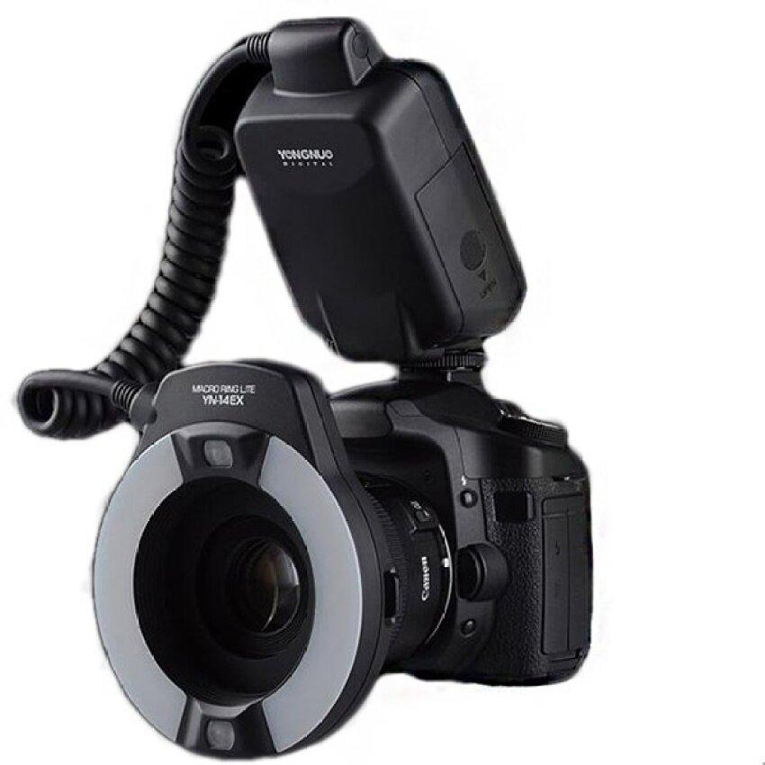 Yongnuo YN-14EX TTL Macro Lingkaran Blitz Ringan dengan Adaptor untuk Canon-Internasional