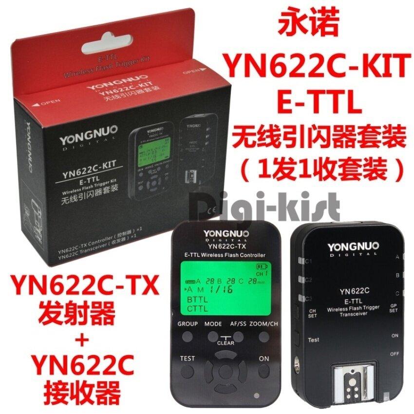 Yongnuo YN-622C-TX Pemancar + Penerima YN622C-KIT Yn622cwirelessflash Pelatuk Perlengkapan-Internasional