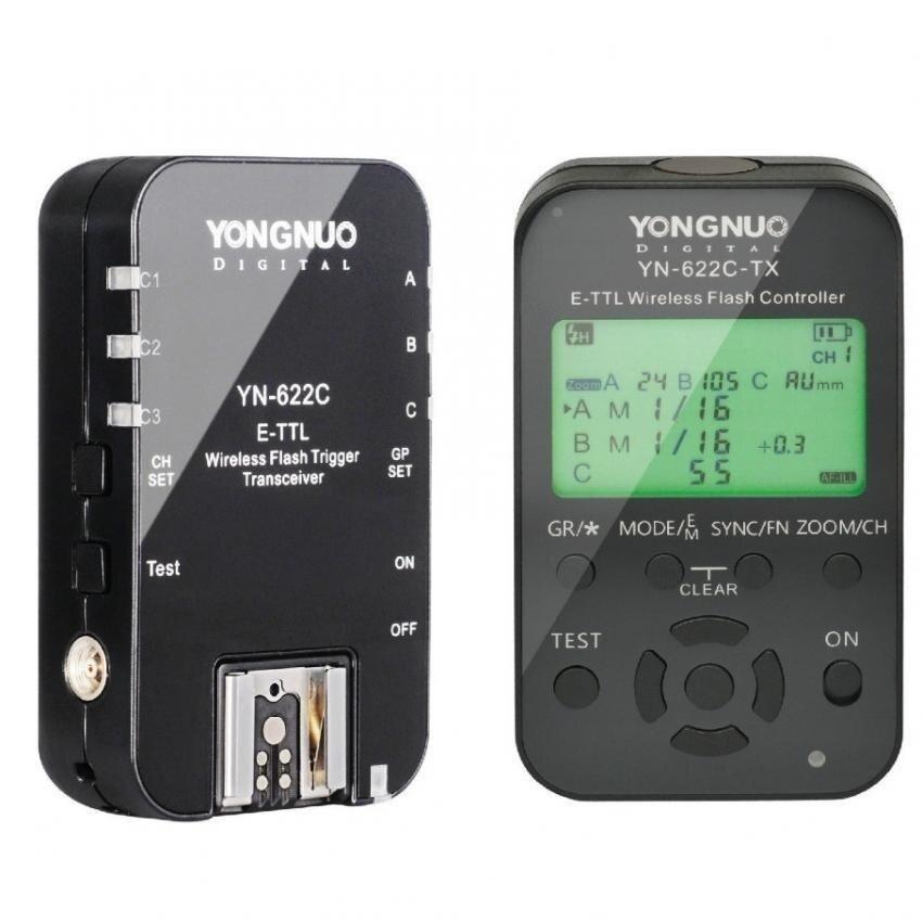 Yongnuo YN-622C + YN-622C-TX Kit TTL Nirkabel HSS Pemicu Flash Forcanon 1200D 1100D 1000D 800D 750D 650D 600D 550D 500D 5D II &-Intl