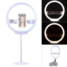YONGNUO YN128 128pcs Ring Light Camera Photo Video Studio Live Selfie Lighting 7.6W Dimmable 3200-5500K Bi-color with Stand for Canon Nikon Sony DSLR for iPhone X 8 7 s plus Smartphone