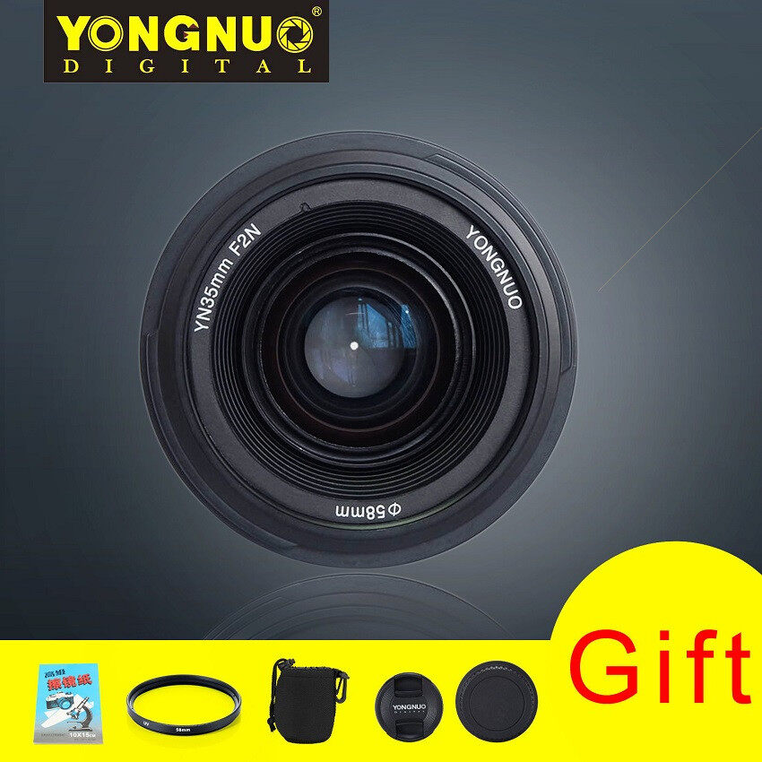 EverPro Yongnuo YN35mm F2 Wide-angle Auto Focus EF lens For Nikon Cameras