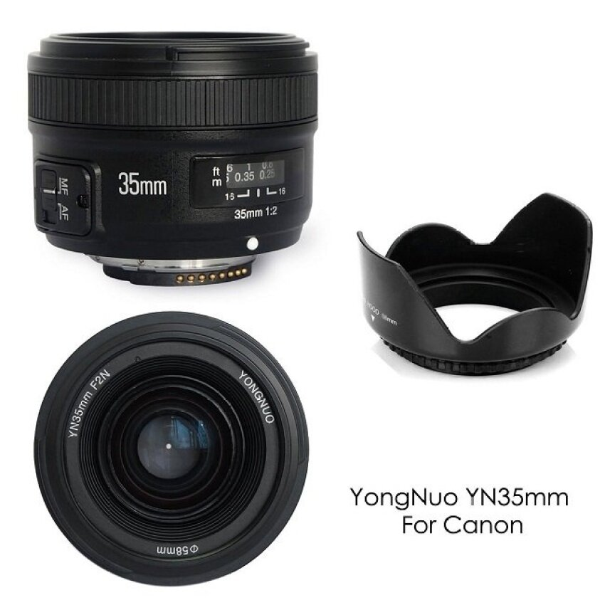 YongNuo YN35MM F2 Wide Angle Large Aperture Auto Focus Lens forCanon EOS Cameras - intl