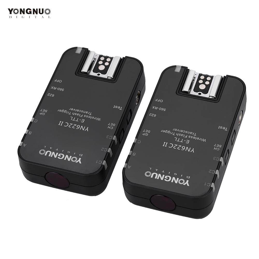 Yongnuo YN622C II 2.4G Nirkabel E-TTL Blitz Pelatuk Penerima Pemancar untuk Canon EOS 5D Menandai II 7D 70D 60D 50D 40D 450D-Internasional