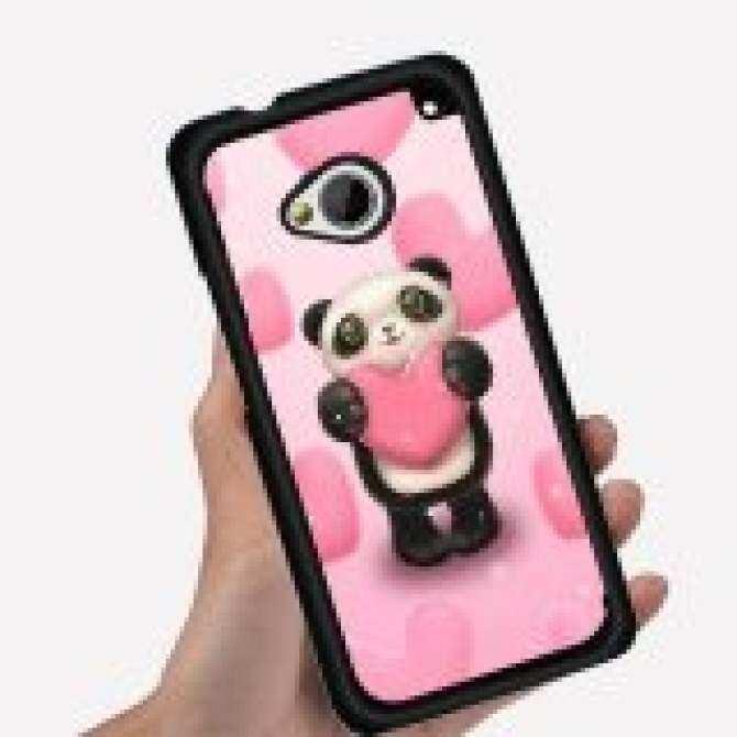 Young Fashion Hot Sale Cute Art Design Girls Like Cartoon Lovely Panda Show Love Pattern Phone