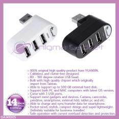 YUANXIN Cableless 3 Ports USB 2.0 mini Hub with rotatable USB head, USB expansion Malaysia