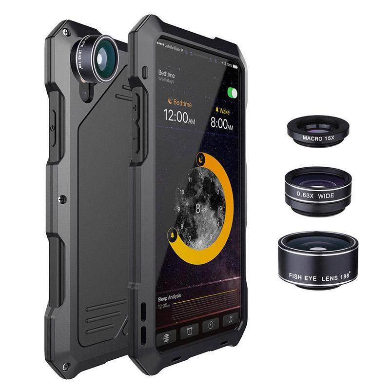 Sale Yunmiao Waterproof Shockproof Metal Case Back Cover With 3 Camera Lens For Iphone X 7 8 7 8 Plus Models Iphone X Intl Oem Online