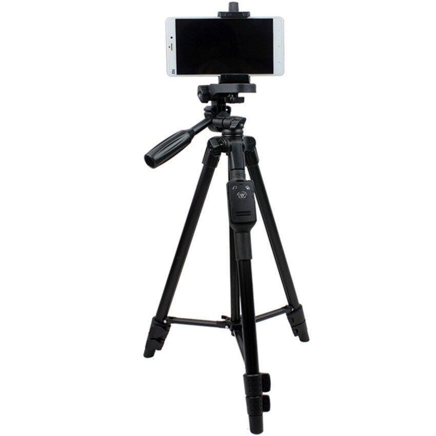 GoTime YunTeng VCT-5208 Bluetooth Tripod For Smartphones And DSLR Camera (Black) - intl
