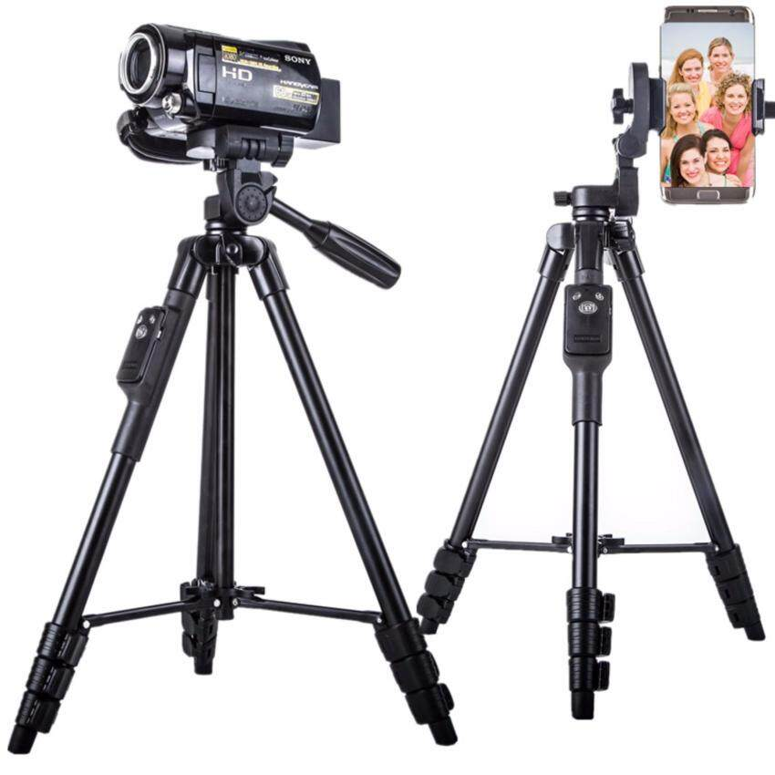 GoTime YunTeng VCT-5208 Bluetooth Tripod for Smartphones and DSLR Camera (Black) - intl