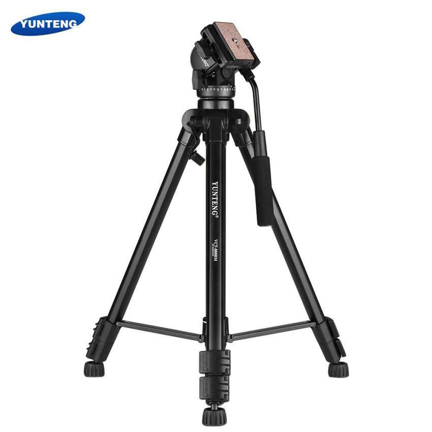 GoTime YUNTENG VCT-880 Portable Aluminum Alloy Tripod 3-Section Telescoping with 2-Way Damping Ball Head for Canon Nikon For Sony DSLR Camera Camcorder Max Load Capacity 5kg - intl