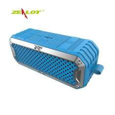 ZEALOT S6 Bluetooth Speaker Portable Wireless TF Card Stereo Music Sealing Cover Blue Malaysia