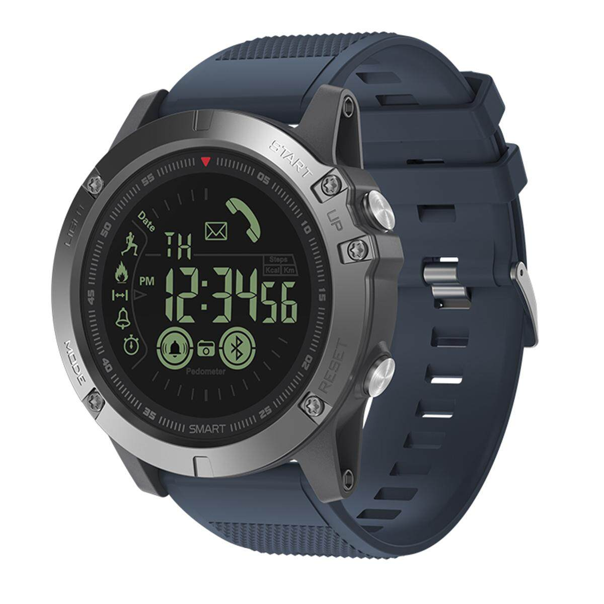 Discount Zeblaze Vibe 3 Wrist Smart Watch Phone Alarm Mate Waterproof Camera Ios Android Blue Intl