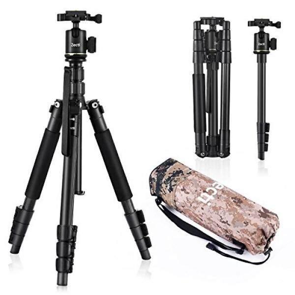 Zecti Tripod Kamera Zecti 55 Inci Aluminium Tripod Bepergian dan Monopod untuk DSLR Kamera Digital Video GoPro Nikon Canon Sony-Intl