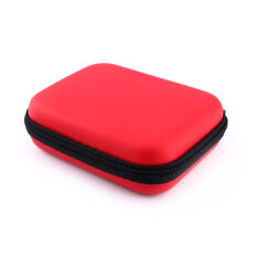 Zip-up USB EVA Carry Case Pouch Bag For 2.5 HDD Hard Drive Disk PC GPS jk(Red) Malaysia