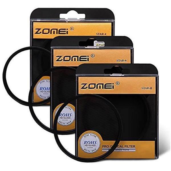 Zomei 77 Mm Star-Efek Cross Starburst Twinkle Lensa Kit + 4 Poin Bintang Filter + 6 Point Bintang filter + 8 Point Bintang Set Filter untuk Canon Nikon-Intl