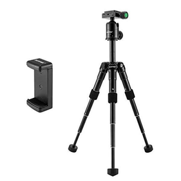 Zomei Kompak Portabel Aluminium Paduan Desktop Tripod Mini Tripod dengan Bola Kepala untuk Sony A6500 Nikon Canon D3300 EOS Rebel t5 Nikon D3400 DSLR Mirrorless Kamera Hitam-Internasional