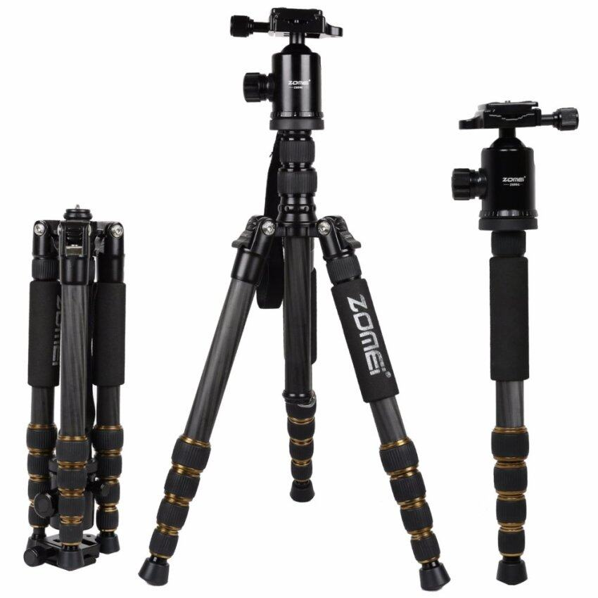 AllRise ZOMEI Z699C Carbon Fiber Portable Tripod with Ball Head Compact  Travel for Canon For Sony Nikon Samsung Panasonic Olympus Kodak Fuji  Cameras and Video Camera Black Color