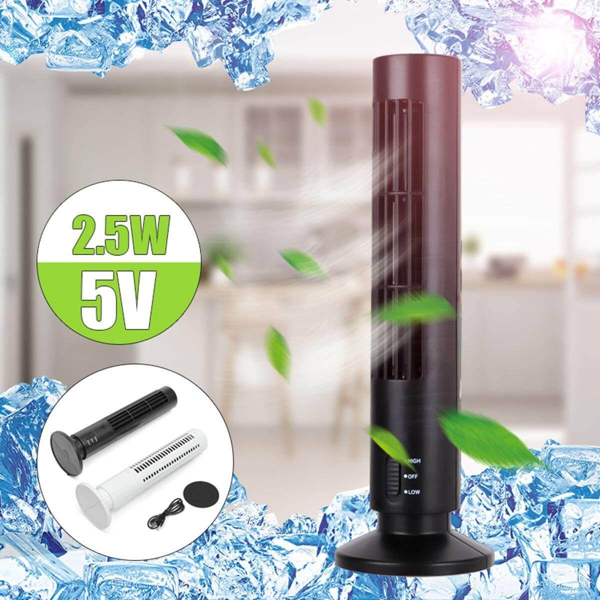 【Free Vận Chuyển + Đèn Flash Deal】Mini USB Di Động Làm Mát Không Khí Điều Hòa Tháp Không Cánh Bladeless Quạt Bàn