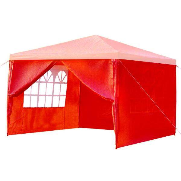 3x3M Party Tent Outdoor Heavy Duty Gazebo Wedding Canopy W/4 Side Walls COVER