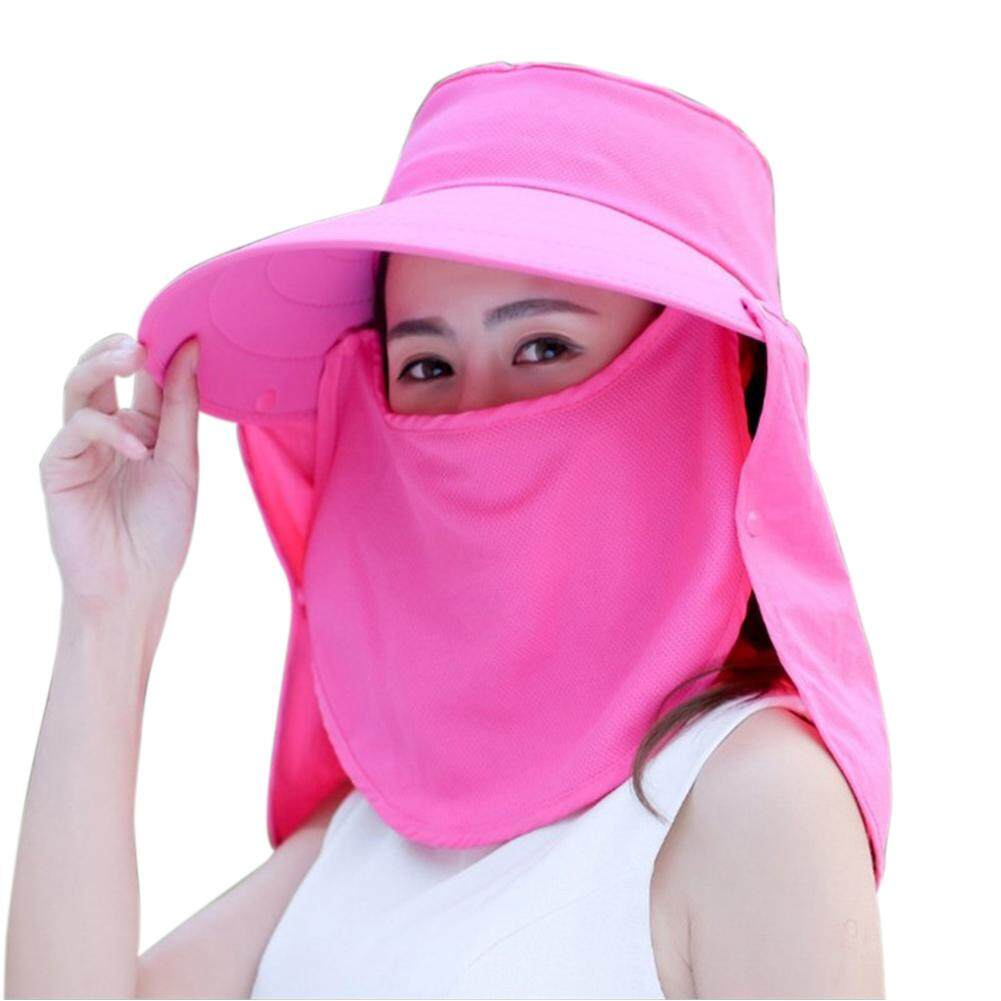 97807fc9bbfc3d Women Riding Veil Neck Protection Removable Summer Face Cover Wide Brim  Outdoor Sunshade Visor Anti-