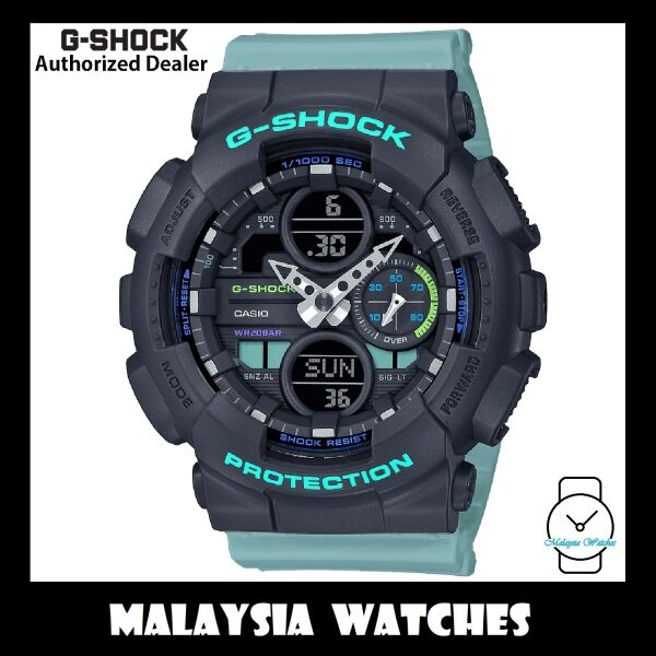(OFFICIAL WARRANTY) Casio G-Shock GMA-S140-2A S Series Analog-Digital Blue Resin Watch GMAS140 GMAS140-2A GMAS140-2ADR GMA-S140-2ADR Malaysia