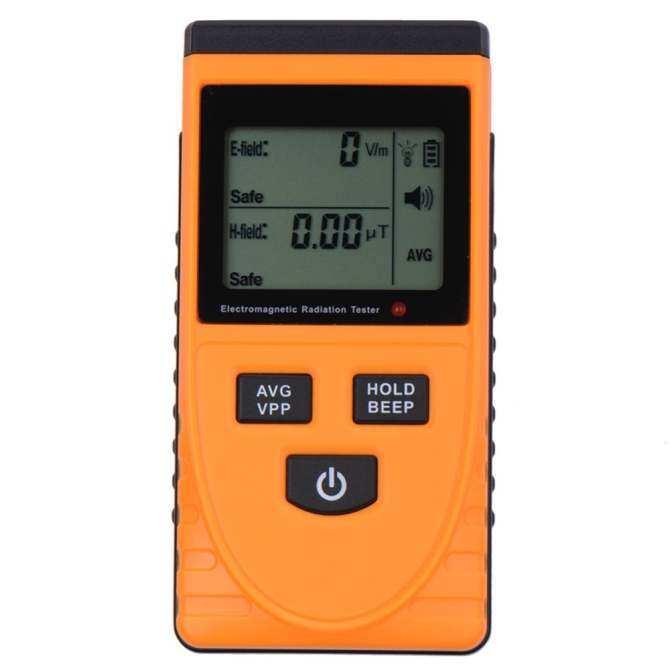 2016 Rondaful Electromagnetic EMF Magnetic Electric Field MicroTesla v/M Tester Meter .