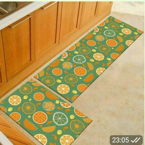 2 Pcs /set Kitchen Mat Carpet With Anti Slip By Sc Automation.