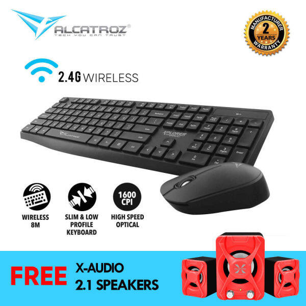 Alcatroz Xplorer air 6600 Wireless Keyboard & Mouse Combo (2.4g) [free super load portable speaker] Singapore