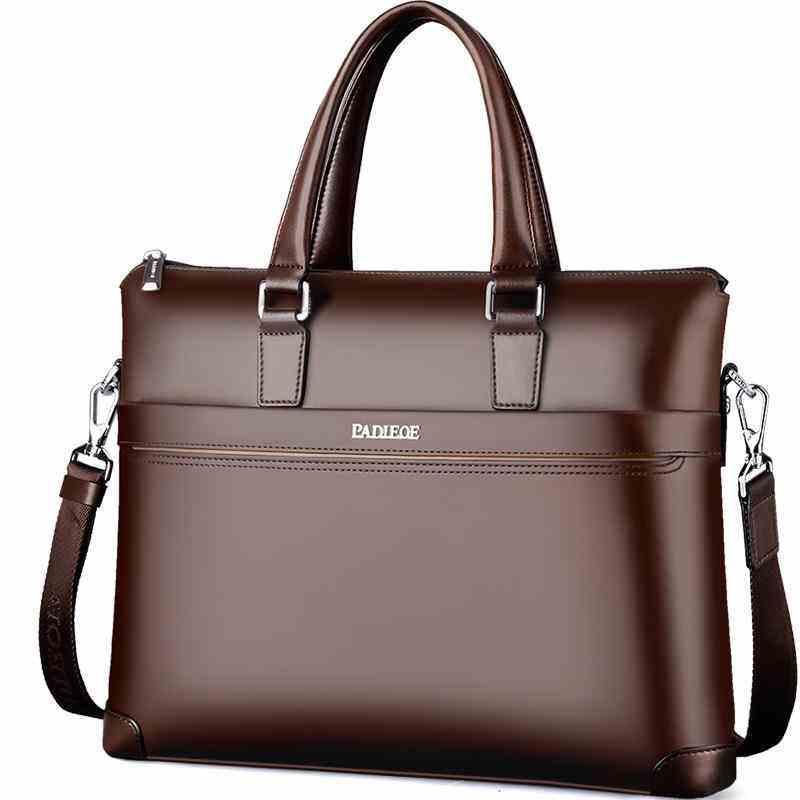 GoTime Padieoe mens bag mens office bag ladies authentic leather Messenger bag large capacity mens documents business briefcase mens handbags - international briefcase